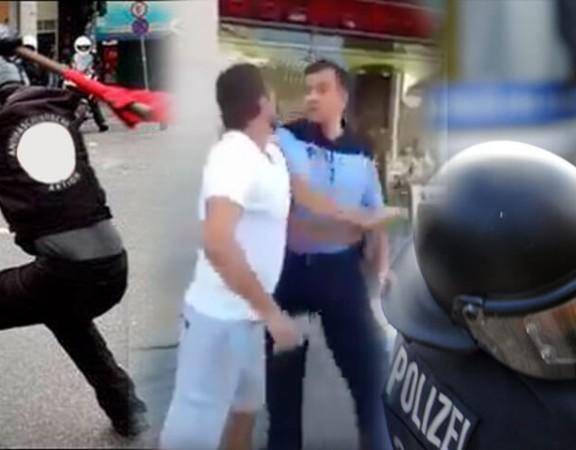 Atrium Sports Polizisten gewaltbereite Demonstranten